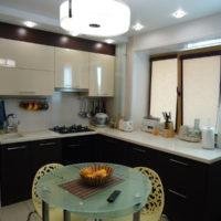 règles d'éclairage et la conception de la cuisine 6 m²