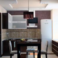 combinaison et design de la cuisine 6 m²