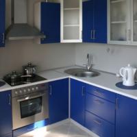 cuisine design 6 m² set bleu