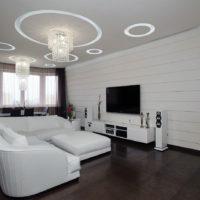 fehér és fekete-fehér háttérkép a nappaliban