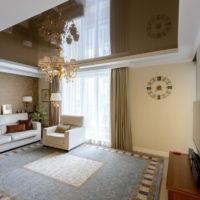 dizájn és tapéta kombinációja a nappaliban