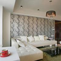 tervezés tapéta kombinált fotó nappali