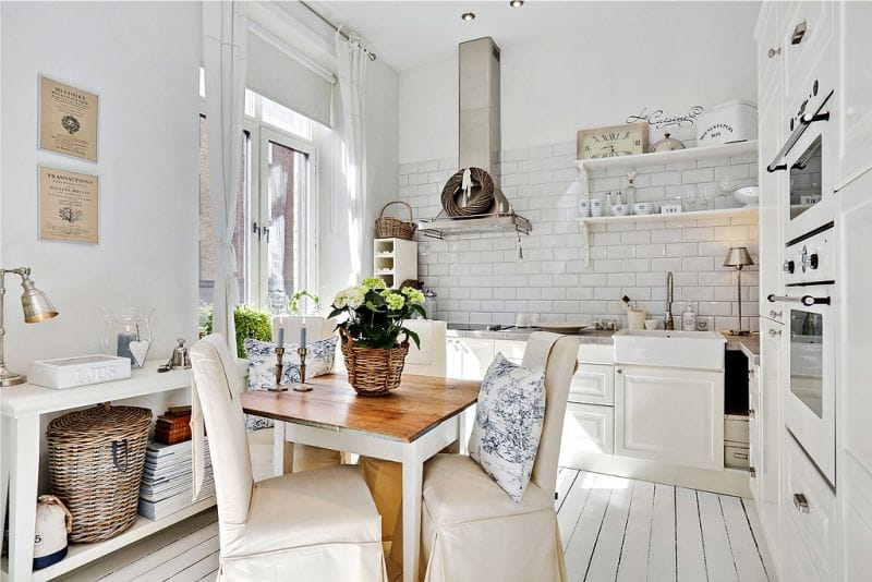 gaiša virtuve provence stilā