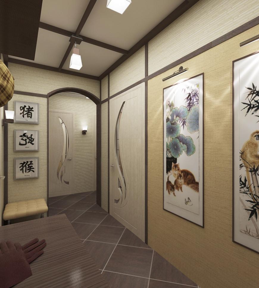 japāņu koridora dizains