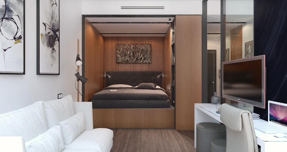 petit studio design 30 m2