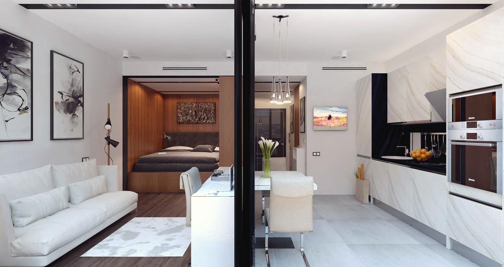 petit studio design 36 m