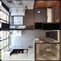 studio design 36 m2