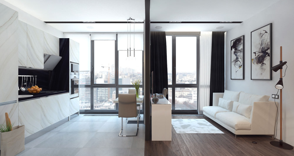 petit studio design 36 m2