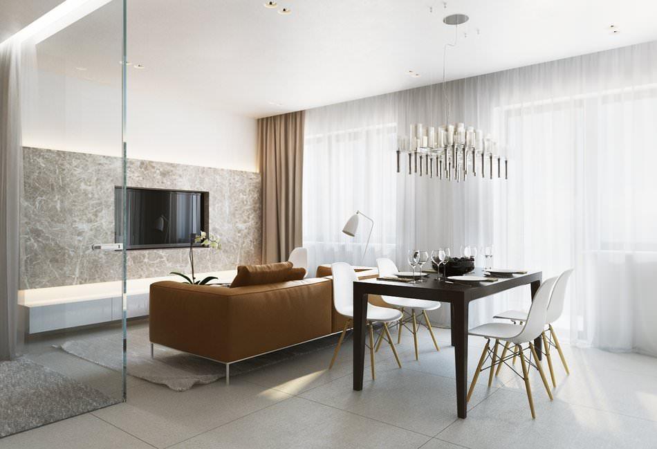 appartement de 36 m2 avec une chambre en verre