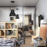 conception d'un studio d'une superficie de 36 m2 idées