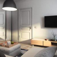 conception d'un appartement d'une pièce d'une superficie de 36 m²