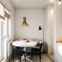 conception d'un appartement d'une pièce d'une superficie de 36 m2