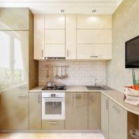 cuisine design réfrigérateur 6 m² dans le placard