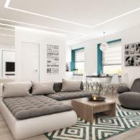 projet d'un studio pour une famille de 36 m2