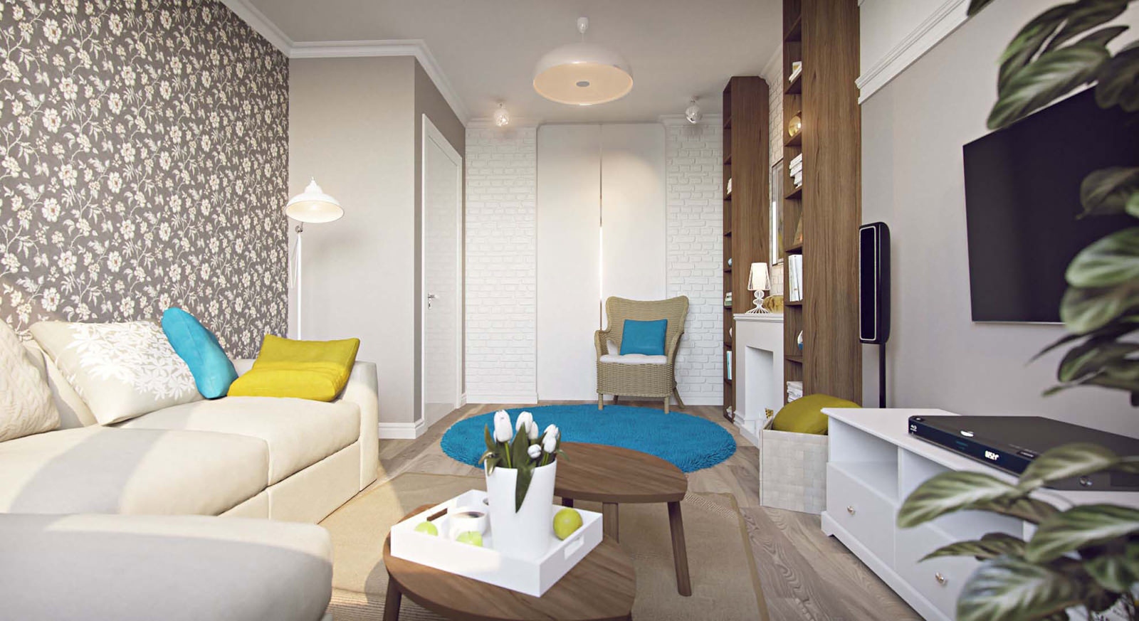 Design Of A One Room Apartment 45 M2 Tips 75 Photos Of Interiors