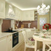 cuisine design 6 m² provence