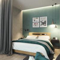 Studio de design de 36 m² avec idées de chambres
