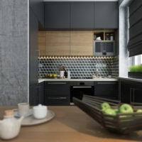 studio design de 36 m² avec aménagement de chambre