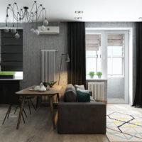 studio de design 36 m² avec projet de chambre
