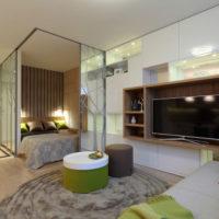 intérieur d'un appartement d'une chambre 36 m² photo