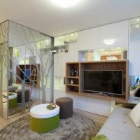 intérieur d'un appartement d'une chambre 36 m²