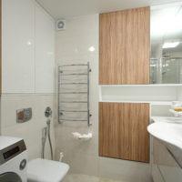 intérieur d'un studio avec une chambre 36 m² salle de bain