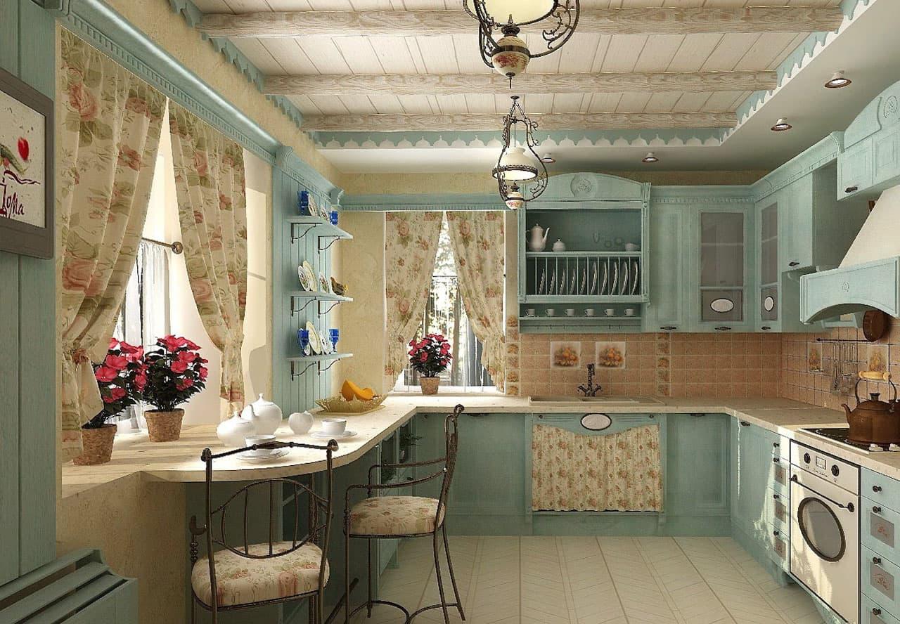 Provence stila virtuve
