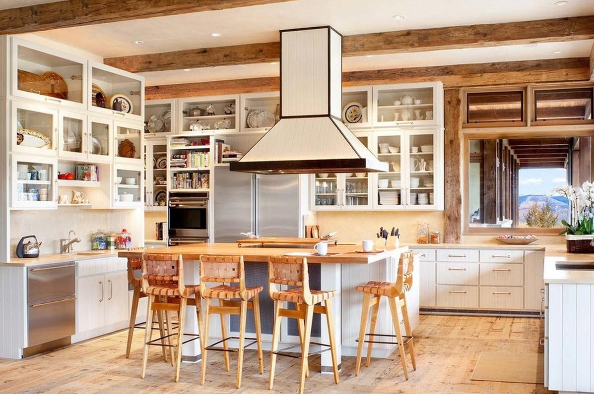 gerendák egy vidéki konyhában
