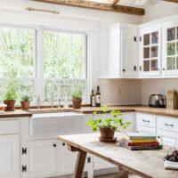 vidéki stílusú konyha fotó belső
