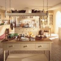 vidéki stílusú konyha lakberendezés