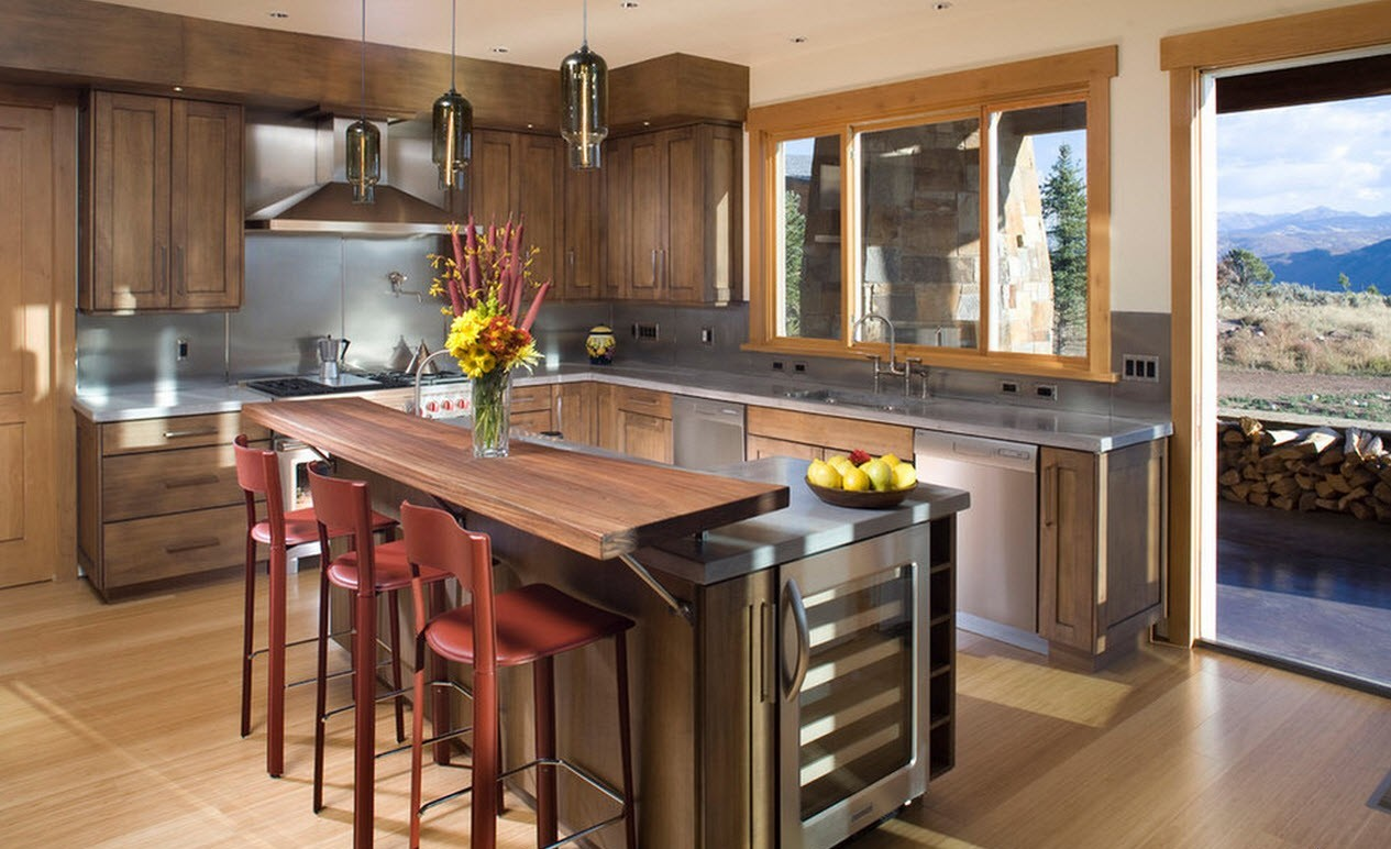 ablakok vidéki konyhában