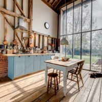 vidéki stílusú konyha a házban