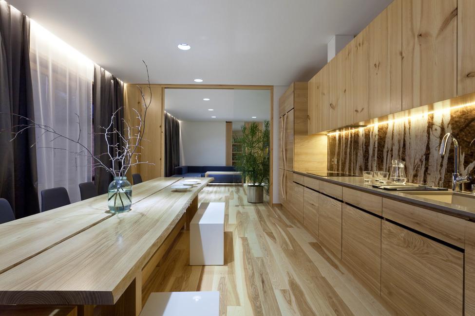 eko virtuves interjers