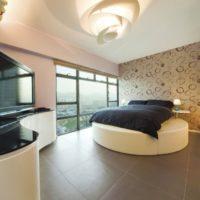 gypsum ceiling in the bedroom