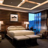 gypsum ceiling in the bedroom photo