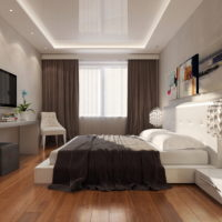 white ceiling in the bedroom