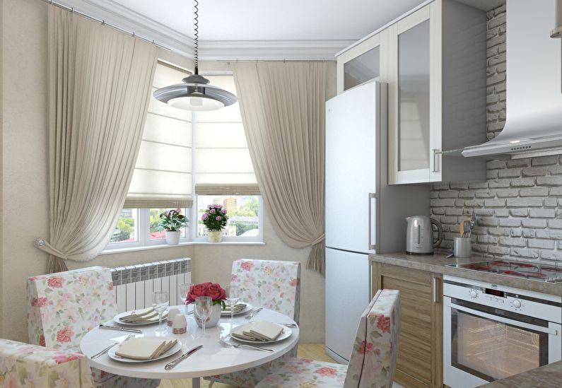 conception et zonage d'une cuisine rectangulaire