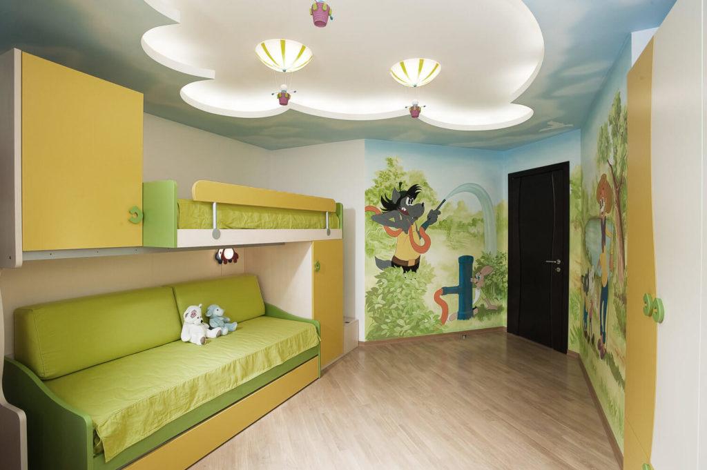 ceiling design in a nursery