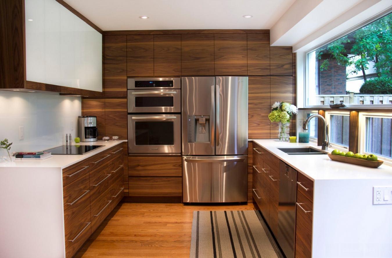 cuisine rectangulaire dans un style moderne