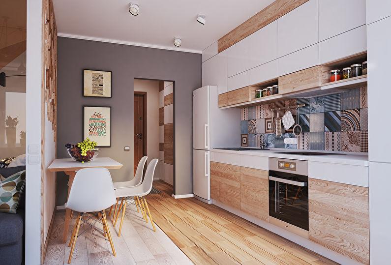 design de cuisine rectangulaire lumineux
