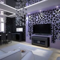 living room with false ceiling