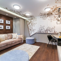 stretch ceilings in the living room