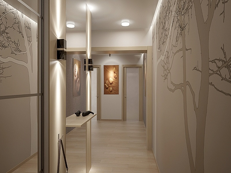 suspended ceiling in the hallway