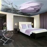 photo printing on the ceiling in the bedroom