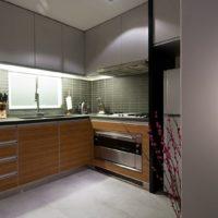 conception de cuisine rectangulaire