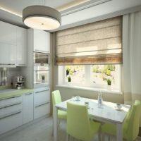 idées de décoration de cuisine rectangulaire