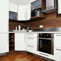 idées de design de cuisine rectangulaire