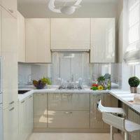 intérieur de cuisine rectangulaire