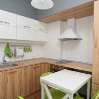 photo intérieure de cuisine rectangulaire