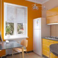 idées d'intérieur de cuisine rectangulaire